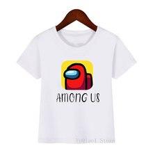 Забавные у нас Графические футболки для девочек/мальчиков harajuku