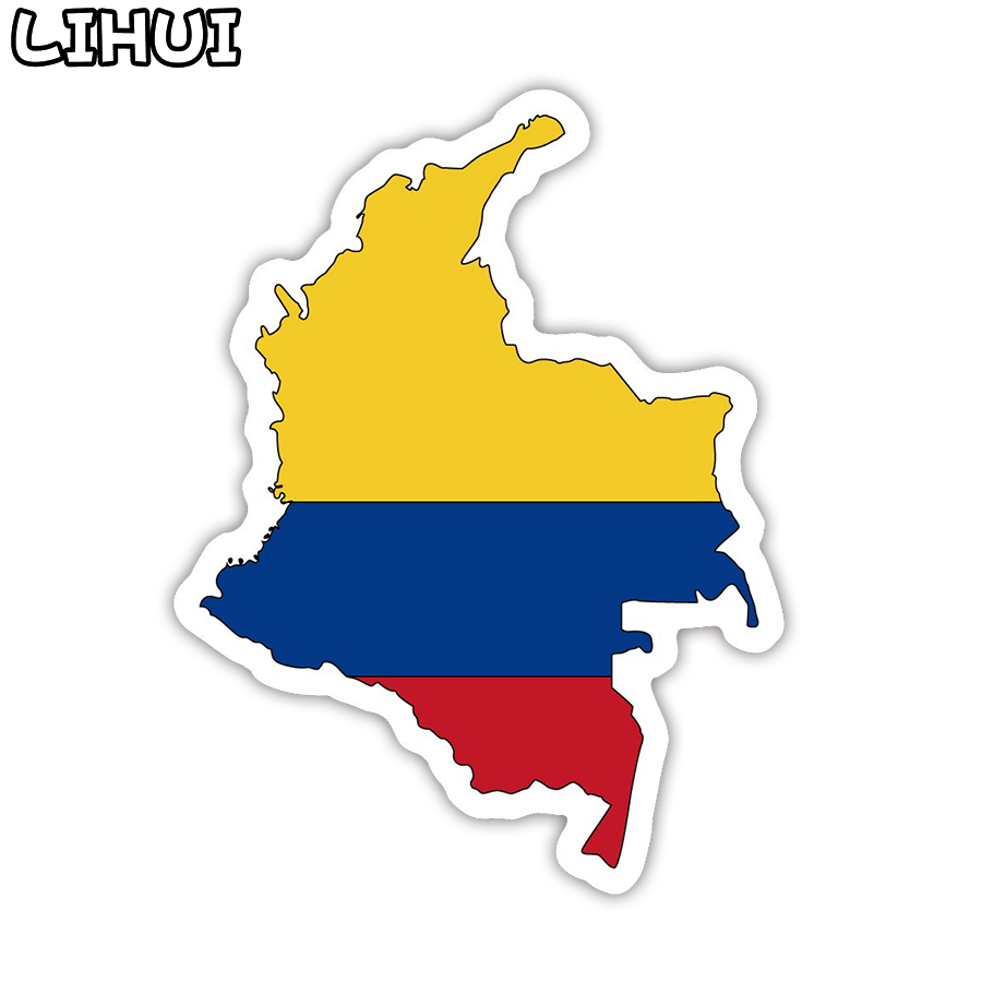 1 PCS Colombia Flag Sticker Toy For Children Countries Map Travel Stickers To DIY Scrapbooking Suitcase Luggage Laptop Car Motor