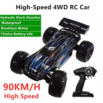 Remote Control 4WD Brushless Racing Car RC 2.4G 90KM/H 15mins Electric Waterproof High-Speed Off-Road Remote Control Car Model image