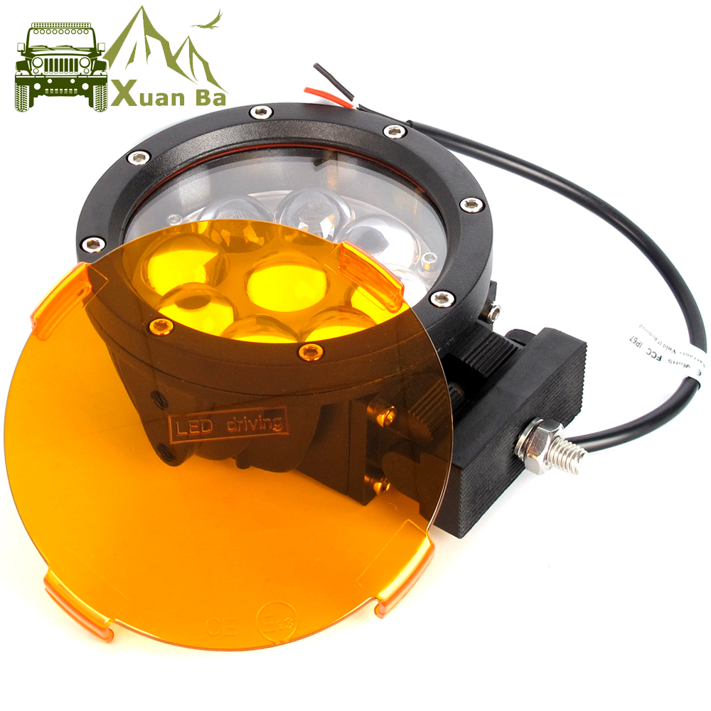 2Pcs 5.5 Inch 45W Round Led Work Light For Tractor Led Spotlight Beam Headlight 4x4 Offroad Vehicle Trucks Boat Driving Lights
