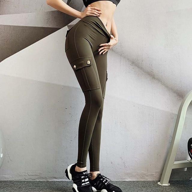 Pantaloni Femei Modă sexy Slim cu talie înaltă elastici 3