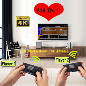 4K Mini TV 8 Bit Retro 818 Games Handheld Gaming Player HDMI Remote Wireless Video Game Console Toys Gifts for FC / NES Games