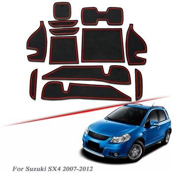13pcs Car Styling Gate slot pad For Suzuki SX4 Low/High Mach 2007-2017 Silica Gel Door Groove Mat interior Non-slip dust Mat