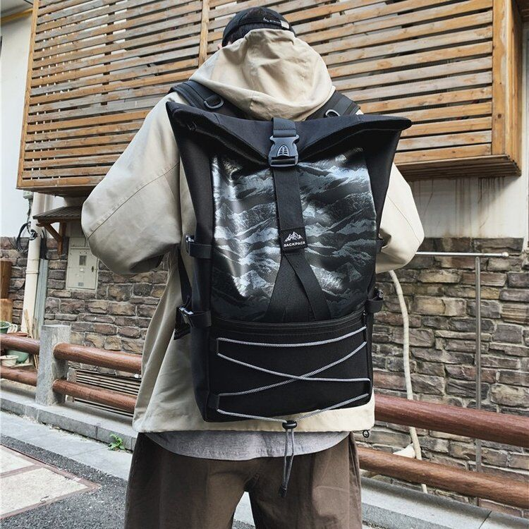 New Backpack Fashion Women/Men Backpack Travel Shoulder Bag Harajuku Backpack Men School Bags Water Repellent Laptop Backpack фото