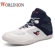 Profesisonal Boxing Shoes Men Breathable Mesh Wrestling Shoes Low Ankle Light Sport Boxing Shoes Anti Slip Wrestling Sneakers