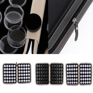 Image 5 - 60 חתיכות יהלומים מיני תצוגת תיבת חן אחסון מקרה עם נייד עור מפוצל תיק נשיאה