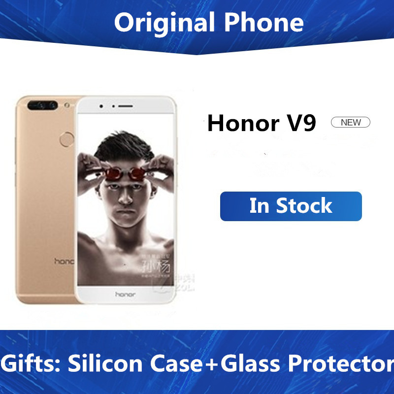 "Original HuaWei Honor V9 4G LTE Mobile Phone Kirin 960 Octa Core Android 7.0 5.7"" 2K 2560X1440 6GB RAM 128GB ROM NFC Dual 12.0MP"