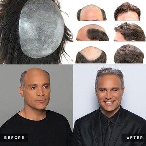 Тонкая кожа 0,04-0,06 мм Для мужчин s накладки из искусственных волос 8x10 дюймов системы замещения волос Для мужчин t систем сделанные полностью вручную парик 100% человеческие волосы натуральный Волосы Remy для Для мужчин