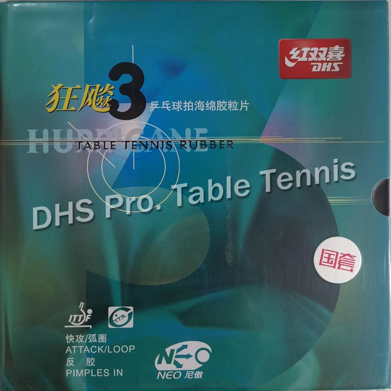 Blue Sponge DHS National NEO Hurricane 3 Table Tennis Rubber