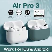 Airpoddings pro 3 bluetooth 5.0 fones de ouvido caixa carregamento sem fio estéreo esportes fones com microfone