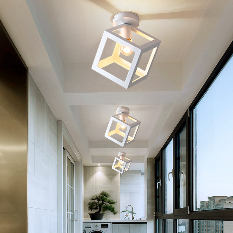 lowest price Modern Led Aisle Light Ceiling Lamp Cloakroom Corridor Balcony Foyer Ceiling Lights Acrylic Decoration Home Lustering Luminaire