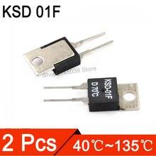 2 шт. KSD 01F 40-135 DegC НЗ нормально закрытый не нормально открытый 1.5A термостат KSD-01F JUC-31F