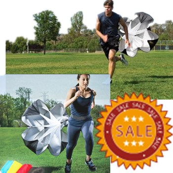 56 Inch Weight Bearing Running Fitness Core Strength Training Speed Resistance Umbrella Exercise Speed Training Parachute fitness resistance bungee band with adjustable belt speed training tool for running training strength basketball and football