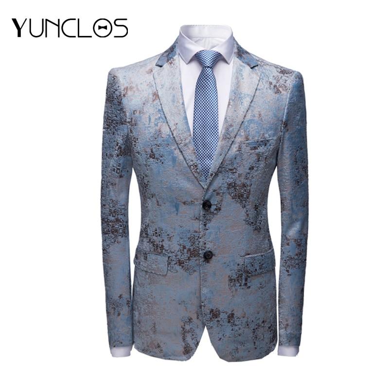 New Men Blazer Wedding & Party Jackets Suit Men's Two Buttons &Black Jacquard &Floral Printed Business Leisure Fashion