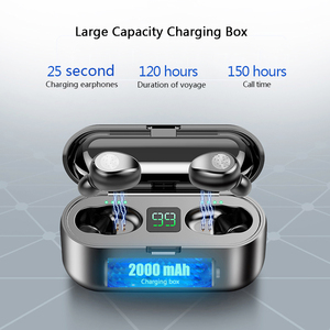 Image 3 - Auricolari Bluetooth 5.0 9D Stereo Music Sport auricolari Wireless con microfono cuffie 2000 mAh Power Bank per iPhone Samsung