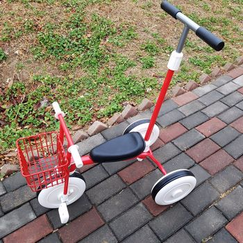 Simple unprinted tricycle male and female baby 2-3-4 years old light push rod tricycle bicycle pedal trolley