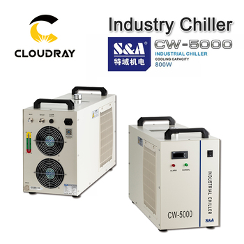 Cloudray S & EEN CW5000 Industrie Lucht Water Chiller voor CO2 Lasergravure Snijmachine Cooling 80W 100W laser Buis
