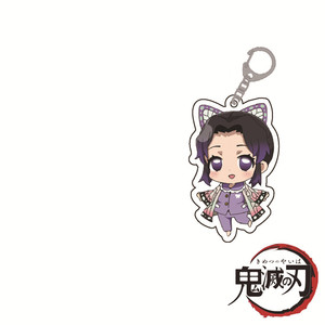 Image 3 - Hot Anime Demon Slayer Kimetsu no Yaiba Keychain Kamado Tanjirou Kamado Nezuko Tomioka Giyuu Acrylic Key Chain 12pcs Wholesale