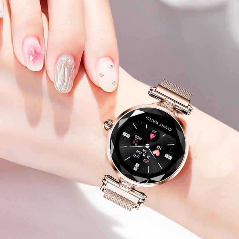H300f56107235445bbacdf9652732ba30X 2021 Fashion Smart Watch Women IP68 waterproof Multi-sports modes Pedometer Heart Rate smartwatch Fitness Bracelet for Lady Gift