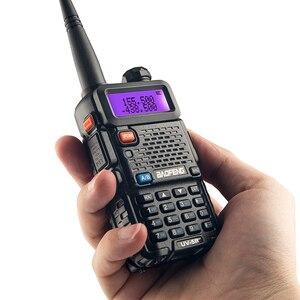 Image 2 - BaoFeng الأشعة فوق البنفسجية 5R جهاز لاسلكي محطة Comunicador UV 5R هام جهاز الإرسال والاستقبال 128CH ثنائي النطاق الاتصال الداخلي يده جهاز اتصال لاسلكي UV5R