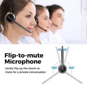 Image 4 - Mpow M5 업그레이드 된 Bluetooth 5.0 헤드셋 무선 헤드폰, 18H 통화 시간 및 소음 차단 마이크, 콜 센터 PC 폰용