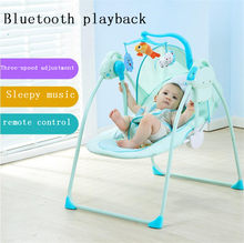 Baby rocking chair electric baby cradle chaise lounge placarders chair rocking chair bluetooth emperorship newborn(China)