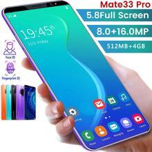 Mate33 pro смартфон с 512m + 4ggb большой объем памяти 58 дюймов