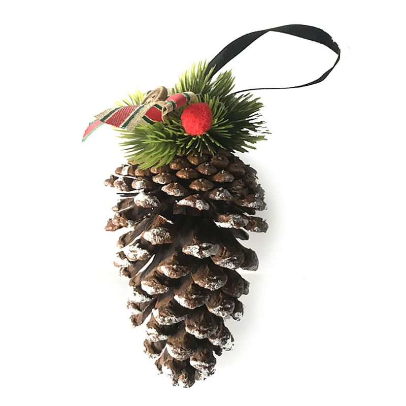 Christmas Decoration Xmas Tree Hanging Large Natural Pine Cone Pendant Ornaments Party Decor 15-17cm