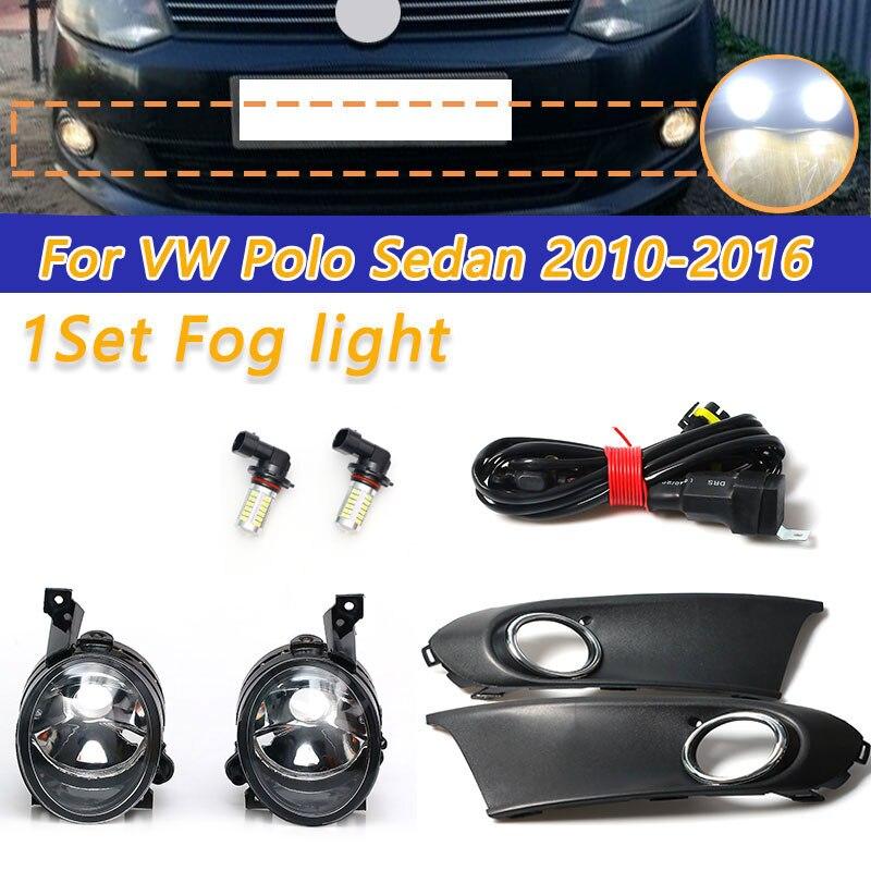 Светодиодный светильник для VW Polo Vento Sedan 2011, 2012, 2013, 2014, 2015, 2016, СВЕТОДИОДНЫЙ противотуманные фары, решетка радиатора, сборка|Фара для авто в сборе|   | АлиЭкспресс