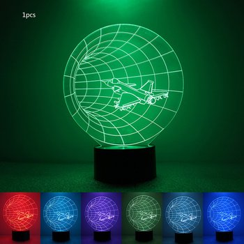 Colorful 3D Night Light Airplane Night Light Eye Care LED Light Bedside Night Lamp Home Decoration Birthday Gift waterproof colorful led cube night light vc a300