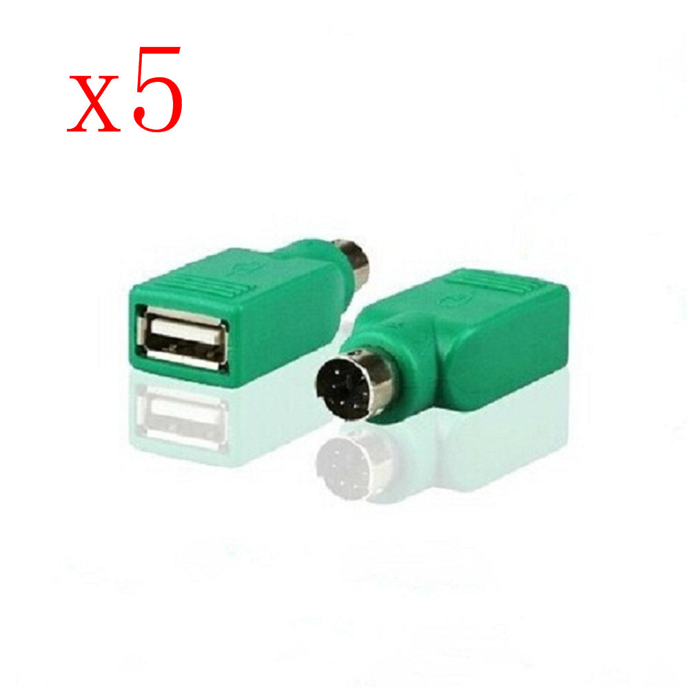 USB Female To PS2 PS / 2 Male Adapter Converter Keyboard And Mouse