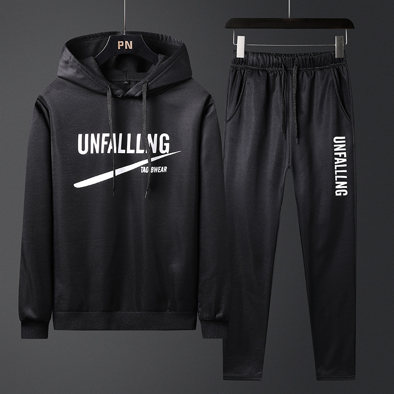 Leisure Sports Suit Men Coat 2019 Autumn Winter New Arrival Men's Korean Slim Hooded Sweatshirt Two-piece Fashion Hoodies