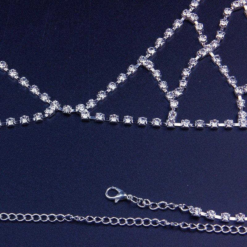 StoneFans Rhinestone Bra Chain Crystal Beach Body Jewelry Shiny Chest Harness Bikini Body Chain Women Necklace Drop Shipping 5