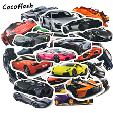 50 pcs/Lot Cool Classic Fashion Style Sports Car Stickers For Moto Suitcase Laptop Skateboard Toy Sticker Kids