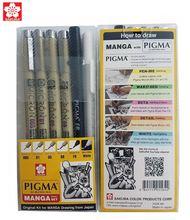 Sakura 6 шт ручка pigma micron архивные пигментные чернила технические