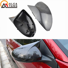 цена на Replacement Real Carbon Fiber Side Mirror Covers Rearview Caps For Nissan Sylphy Sentra B18 2020 .