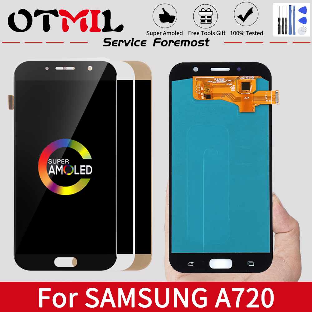 Original LCD For SAMSUNG Galaxy A7 2017 LCD Touch Screen Digitizer For SAMSUNG A7 2017 Display A7 2017 A720F A720M SM-A720F
