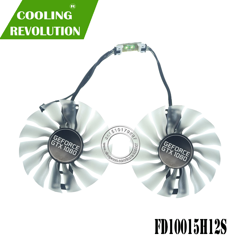 95MM GAA8S2U FD10015H12S Fan GTX1080T GTX1080 GPU Card Cooler For Palit GTX 1080 Ti 1080 GameRock Cards as replacement image