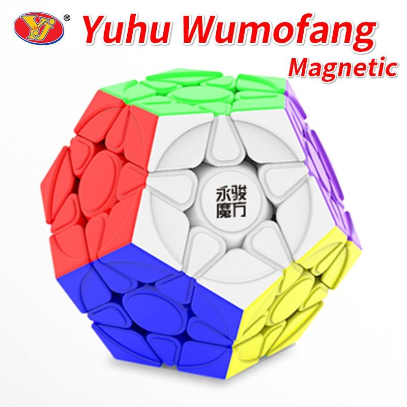YJ YuHu M Magentic Mega Yuhu V2 M Wumofang Magic Cube Speed Puzzle 3x3x3 Pentagon Kids Toys Educational Toys