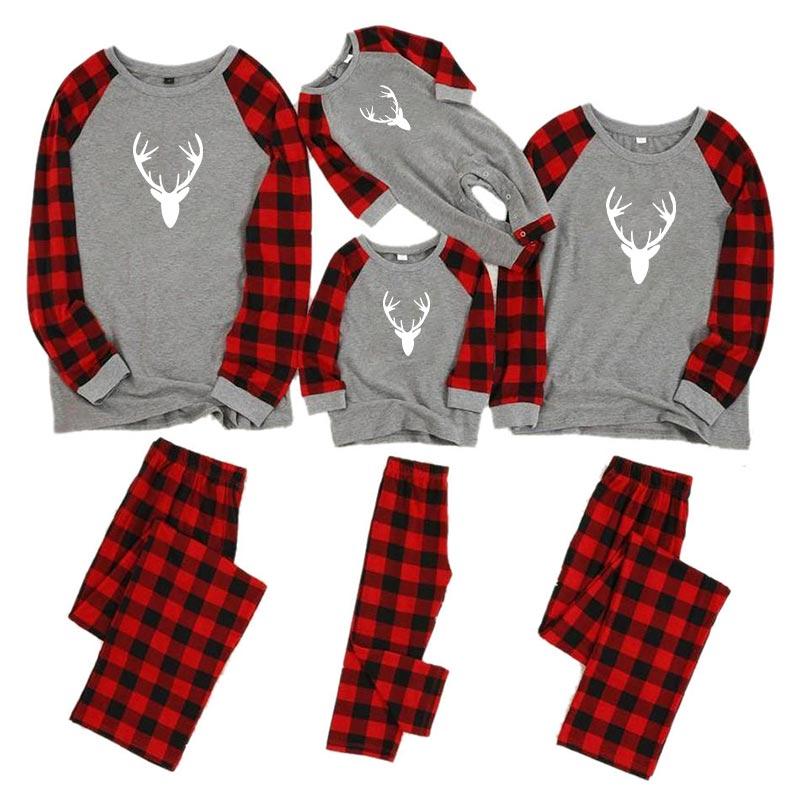 Рождественские пижамы для всей семьи, комплект для мамы, дочки, папы и сына, комбинезон, одежда для сна одинаковые комплекты для папы, мамы и меня одежда для мамы и ребенка - Цвет: color 3