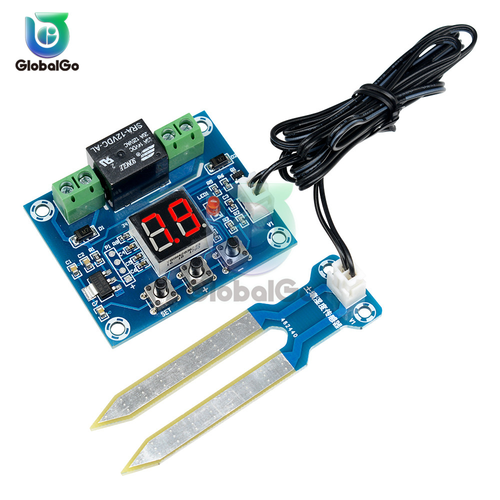 XH-M214 12V Soil Moisture Sensor Module Automatic Digital Display Humidity Sensor Controller Switch Output