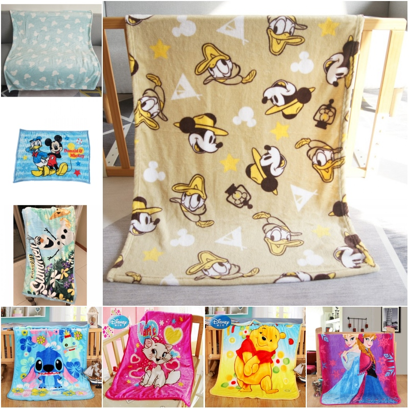 Disney Mickey Mouse Stitch Soft Fleece Blankets Discount Nap Small Blanket For Baby Boys Girls Kids Gift 70x100cm On Bed Crib