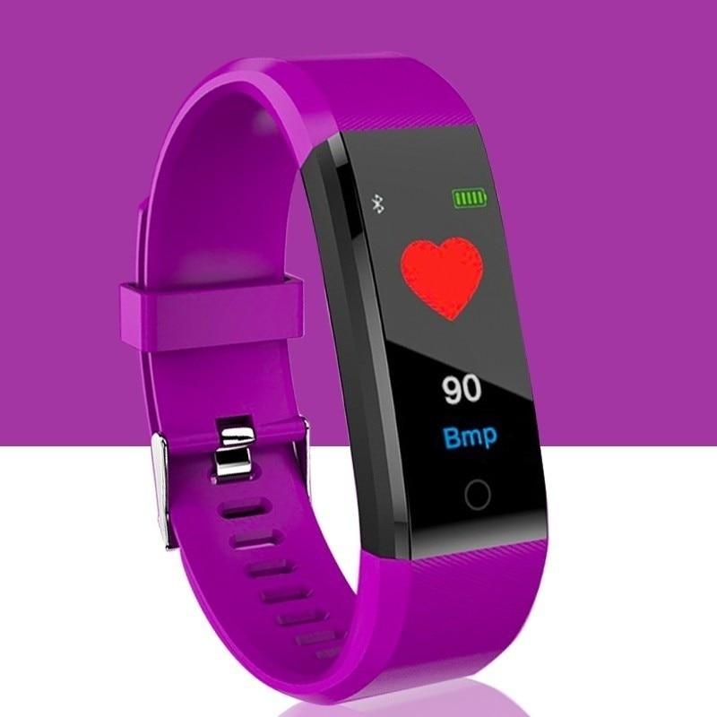 Bluetooth Smart Watch Color Screen Waterproof Smart Band Heart Rate Blood Pressure Moniter Bracelet Smart Wristband in Smart Wristbands from Consumer Electronics