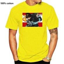 Camisa popular do t do algodão S-6XL tamanho grande do rolo de rock para o homem da força de fogo da brigada das chamas