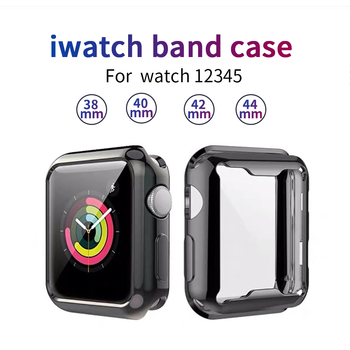 360 slim watch cover for apple watch case 5 4 3 2 1 42mm 38mm soft clear tpu screen protector for iwatch 4 3 44mm 40mm Slim Watch 360 Cover for Apple Watch Case 5 4 42mm 38mm Soft Clear TPU Screen Protector for iWatch 3 2 1 44mm 40mm accessories