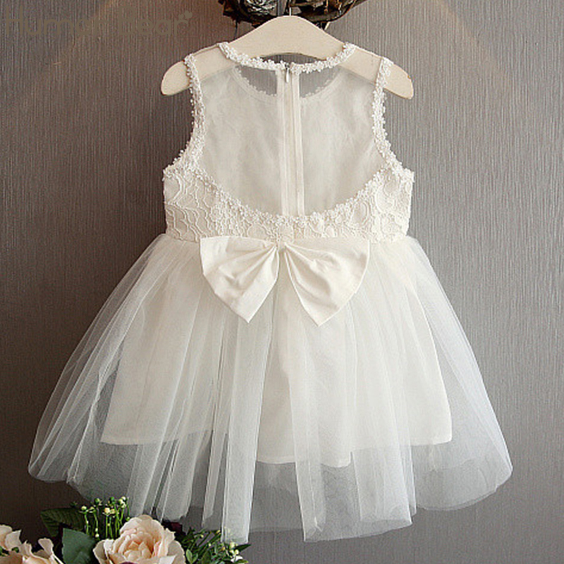 Humor Bear New Baby Girls Dress Lace Princess Dress Wedding Party Dress School Casual Clothing Toddler Kids Sleeveles Dress