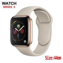 Montre connectée 4 pour hommes et femmes, 44mm, moniteur de fréquence cardiaque, coque pour apple Watch, iPhone, Android, mise à niveau, pas apple Watch