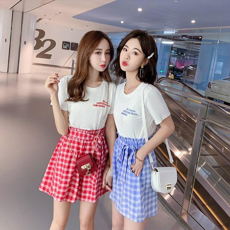 Lattice Loose Pants Skirt Women's Korean-style By Age 2019 Summer New Style Online Celebrity Slimming Best Friend Western Style
