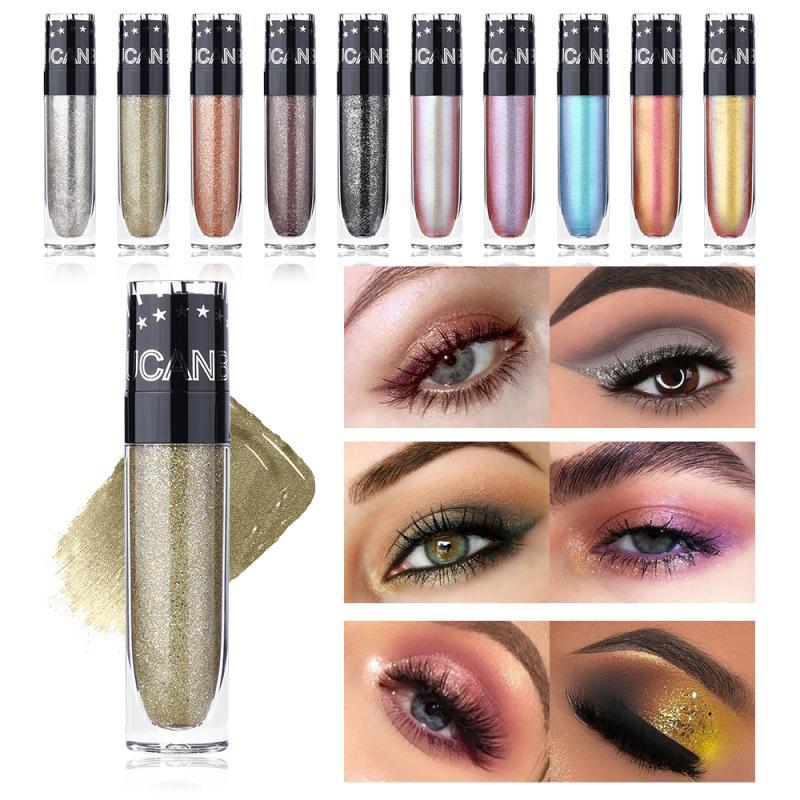 10 цветов, матовые тени для век, палитра блестящих пигментных теней для век, металлический бриллиантовый макияж, модная Косметика TSLM3