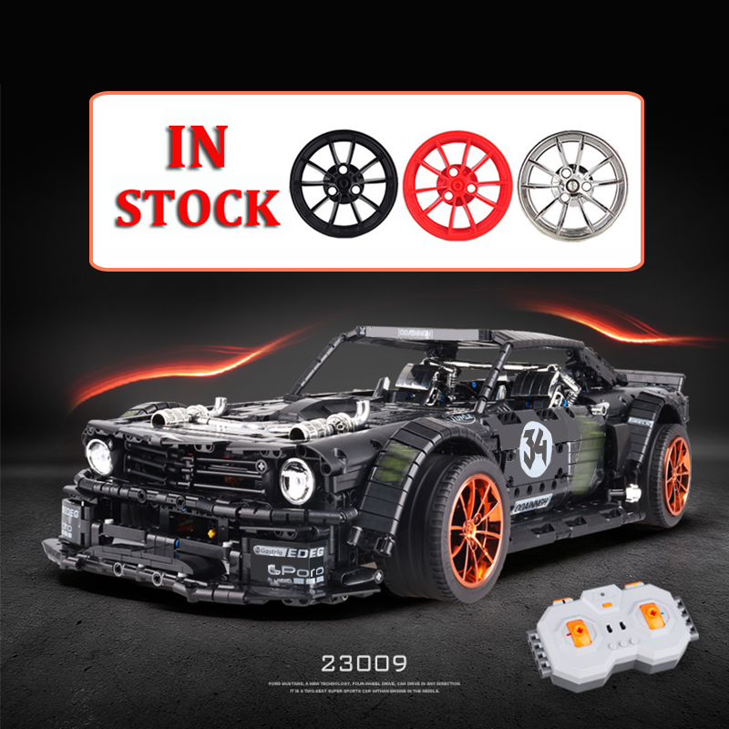 23009 New 1965 Ford Mustang Hoonicorn Racing Car Ft Technic 20102  MOC-22970  Building Block Bricks Kid Educational Toys Gifts